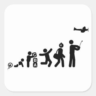 RC Airplane Square Sticker