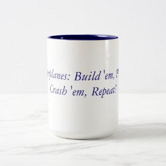 RC Airplanes Mantra Two-Tone Coffee Mug