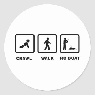 RC Boat Round Stickers