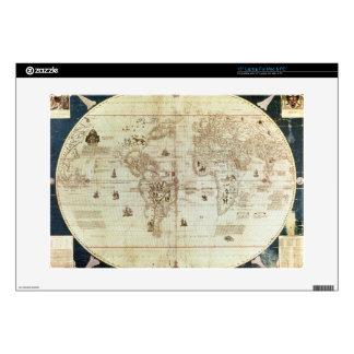 "Rc C 2487 Map of the World, designed by Sebastien 15"" Laptop Skin"