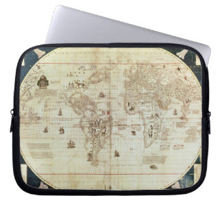 Rc C 2487 Map of the World, designed by Sebastien Computer Sleeves