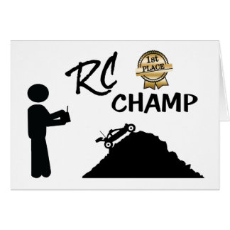 RC First Place Champ Card