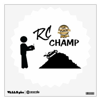RC First Place Champ Wall Decal