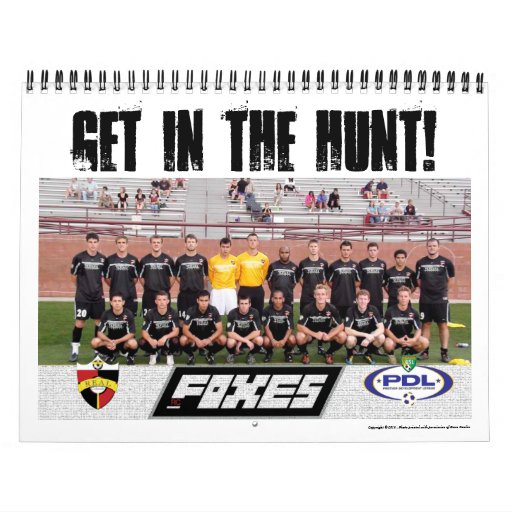 RC Foxes Get In The Hunt 2011 Calendar