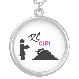 RC Girl Silver Plated Necklace
