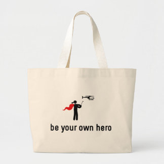 RC Helicopter Hero Large Tote Bag