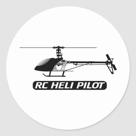 RC Helicopter Pilot Classic Round Sticker