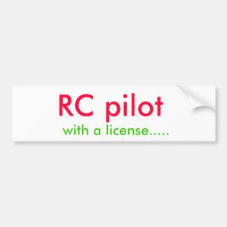 RC pilotan, con una licencia ..... Pegatina Para Auto