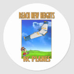 RC Plane Zephyr.png Round Stickers