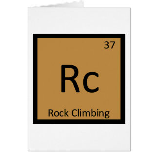 Rc - Rock Climbing Sports Chemistry Periodic Table Cards