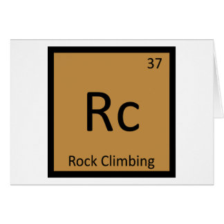 Rc - Rock Climbing Sports Chemistry Periodic Table Card