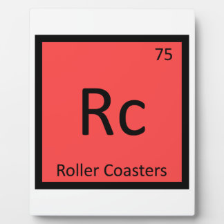 Rc - Roller Coasters Chemistry Periodic Table Plaque