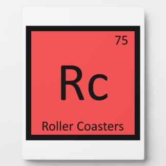 Rc - tabla periódica de la química de las montañas placas de madera