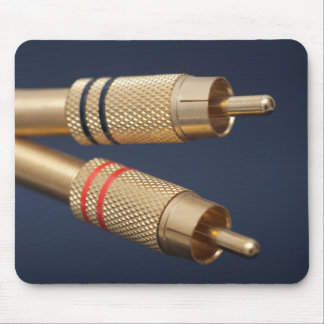 RCA audio cable Tapetes De Ratones