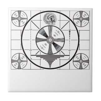 RCA Indian Head Test Pattern Small Square Tile