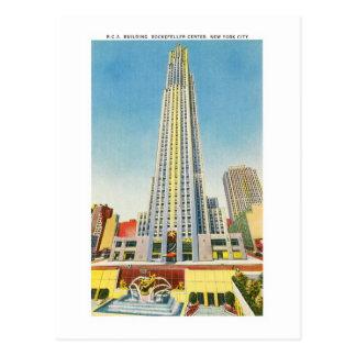 RCA que construye, centro de Rockefeller, Nueva Tarjeta Postal