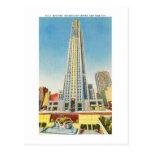 RCA que construye, centro de Rockefeller, Nueva Yo Tarjeta Postal