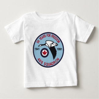RCAF Patch 408 Squadron Escadron 50 Years Royal Ca Baby T-Shirt