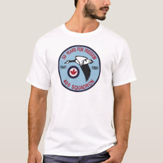 RCAF Patch 408 Squadron Escadron 50 Years Royal Ca T-Shirt