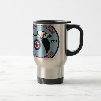 RCAF Patch 408 Squadron Escadron 50 Years Royal Ca Travel Mug