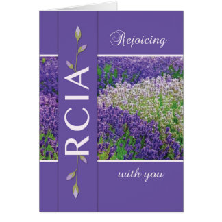 RCIA Rejoicing Lavender Flowers Card