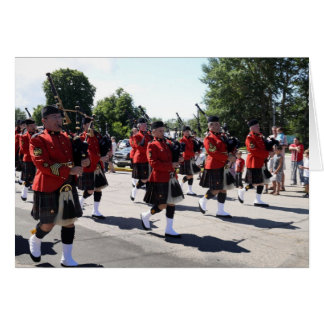 """RCMP """"H"""" Division Pipes and Drums Card"""