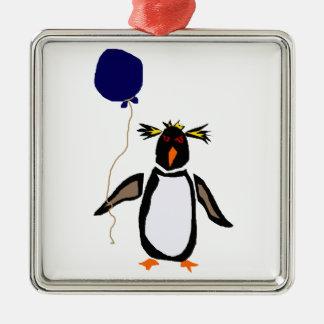 Rcokhopper Penguin Holding Balloon Metal Ornament