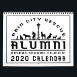 """RCR Alumni 2020 Calendar<br><div class=""""desc"""">When you have rescued a dog out of difficult or dire situations and welcomed them into your home and family, you know a special sort of love. Rain CIty Rescue celebrates the dogs that have found such special homes and the people who have offered them. In our 2020 calendar, we...</div>"""