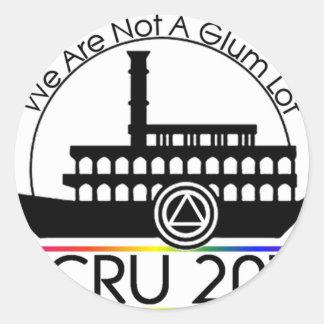 RCRU2011 PEGATINA REDONDA