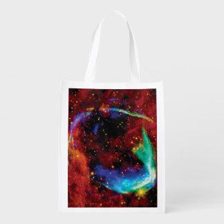 RCW 86 Supernova Remnant - NASA Hubble Space Photo Grocery Bag
