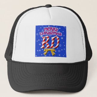 RD CANDY CANE MERRY CHRISTMAS REGISTERED DIETITIAN TRUCKER HAT