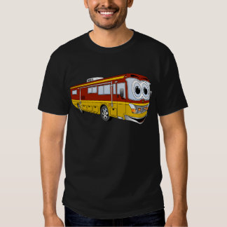 Rd Gold RV Bus Cartoon Camper T-shirt