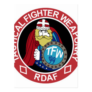 RDAF Patch Esk 730 F 16 Tactical Fighter Weaponry Postcard