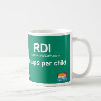 RDI: Toma diaria recomendada: 3 tazas por niño