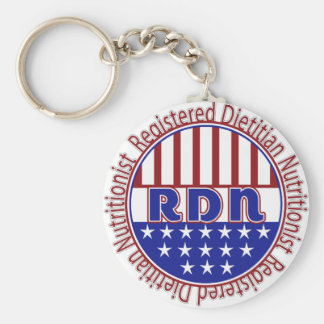 RDN Registered Dietitian Nutritionist PATRIOTIC Keychain