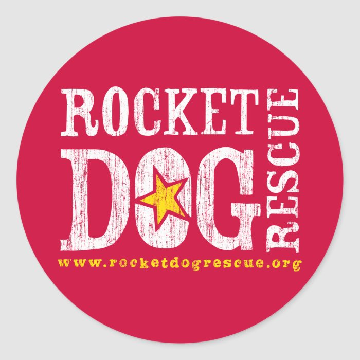 RDR Logo (wht/goldenrod) Classic Round Sticker