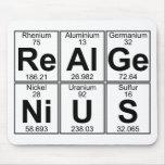 Re-Al-GE-Ni-U-s (genio real) - por completo Alfombrilla De Ratón