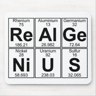 Re-Al-GE-Ni-U-s (genio real) - por completo Alfombrillas De Raton