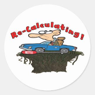 Re-Calculating Classic Round Sticker