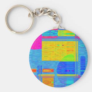 Re-Created Building Blocks Keychain