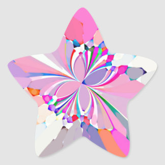Re-Created Butterflies Star Sticker