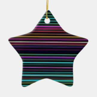 Re-Created Channels Double-Sided Star Ceramic Christmas Ornament