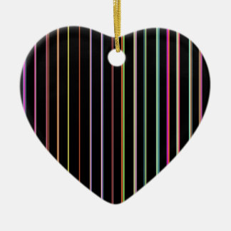 Re-Created Channels Double-Sided Heart Ceramic Christmas Ornament
