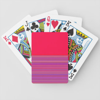 Re-Created Color Field & Stripes by Robert S. Lee Bicycle Playing Cards