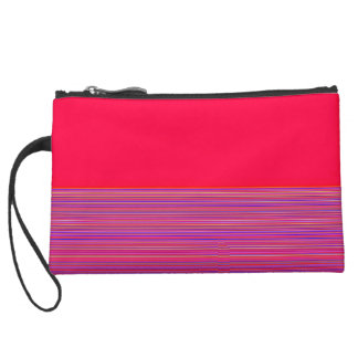 Re-Created Color Field & Stripes by Robert S. Lee Suede Wristlet