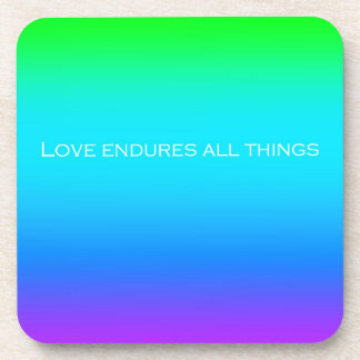 Re-Created Color Field with LOVE by Robert S. Lee Beverage Coaster