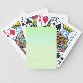 Re-Created Color Field with LOVE by Robert S. Lee Bicycle Playing Cards