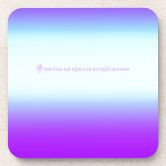 Re-Created Color Field with LOVE by Robert S. Lee Drink Coaster
