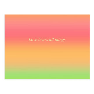 Re-Created Color Field with LOVE by Robert S. Lee Postcard