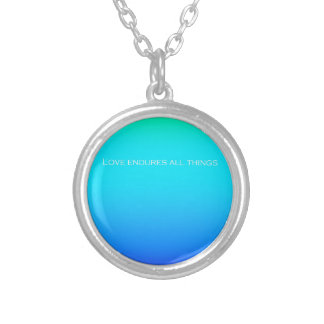 Re-Created Color Field with LOVE by Robert S. Lee Round Pendant Necklace